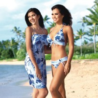 Mp2_Antique Blue _ Dress _ Swimwear_Loco Boutique Hawaii Waikiki alamoana center Shoping Swim wear3