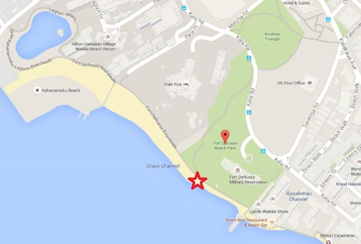 waikiki beach map