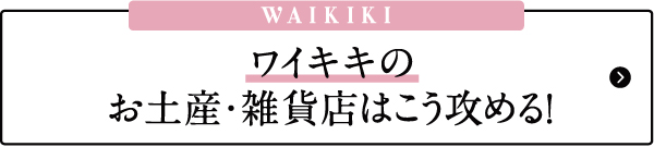 ハワイ おすすめ お土産 雑貨 モデルプラン ワイキキ
