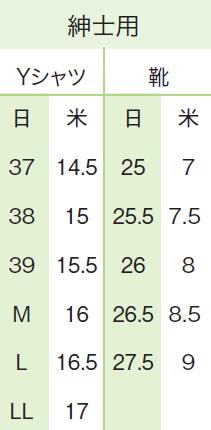 日米サイズ男性 洋服 靴