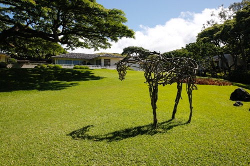 spalding house sculpture garden ハワイのスポーディングハウスの彫刻庭園