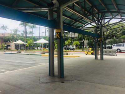 タクシーの停車場所