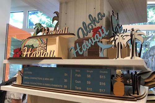 ハワイのアイランドアート&ソールのサインボード