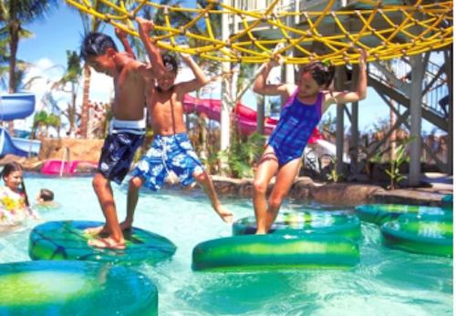 ウェットアンドワイルドハワイ ハワイ 子供の遊び場 プール ホノルル