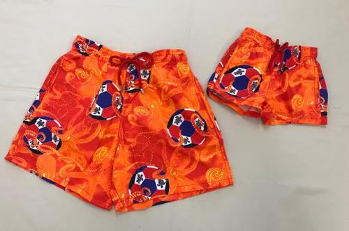 ビルブレクイン ハワイの水着 ワールドカップ サッカー 親子コーデ 親子お揃い オレンジ