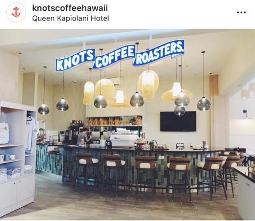 ノッツ・コーヒー・ロースターズ カフェ ワイキキ クイーンカピオラニホテル