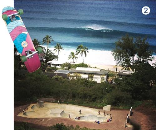 ハワイ スケートボードパーク バンザイボウル ハレイワ