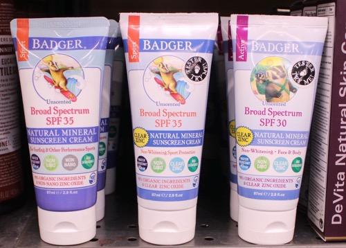 badger sunscreen USA アメリカ バジャー ナチュラルサンスクリーン オーガニック日焼け止め ホールフーズ