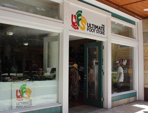 ハワイのザ・アルティメイト・フットストア ワイキキ ビーチウオーク ルワーズ通り hawaii the ultimate store