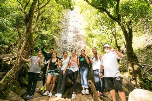 ハワイ ネイチャー&ユー マノアの滝