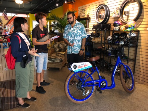 ハワイ ペデゴワイキキ ワイキキ レンタル自転車