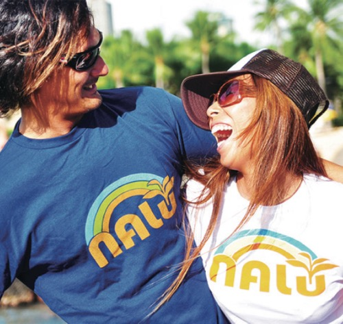 thhawaii nalu hawaiian spirits Tshirts local brand artist kaukau JCB collaboration