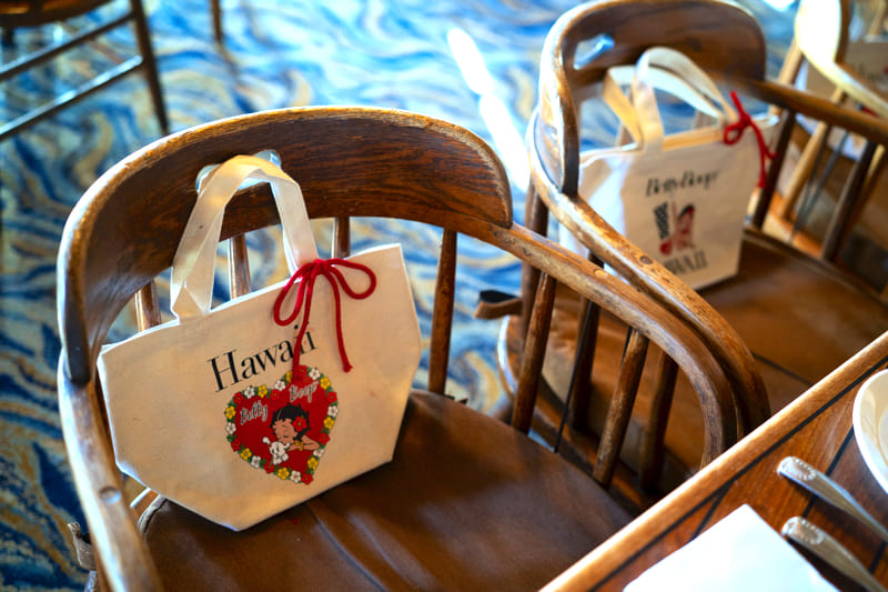 hawaii gift wedding totebag