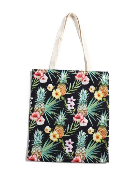 theveryday-hawaii-eh-cotton-tote-lrg-pineapple-black