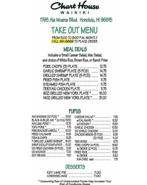 th_チャートハウス ハワイ ワイキキ レストラン テイクアウト