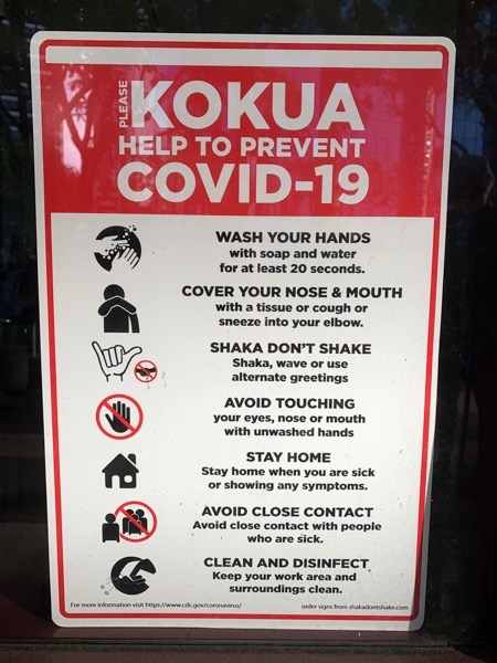 hawaii sign covid-19