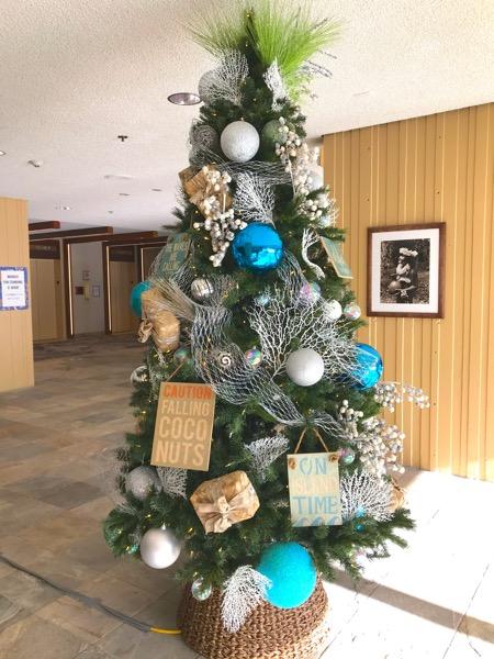 マリオットワイキキビーチホテル ハワイ ワイキキ クリスマスツリー1th_