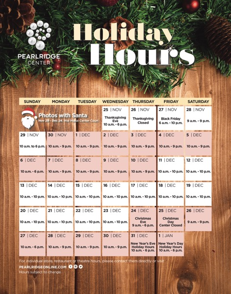 PRC Holiday Hours 2020th_