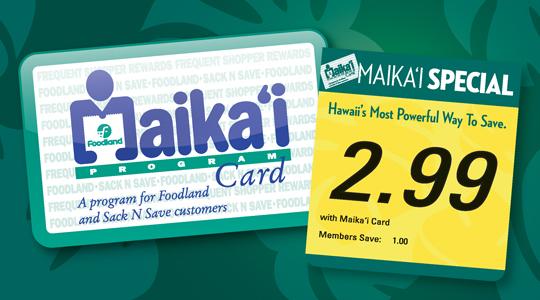 foodland hawaii makai card